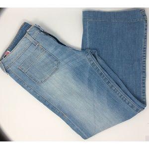 True Religion Light Wash Bell Bottom Jeans